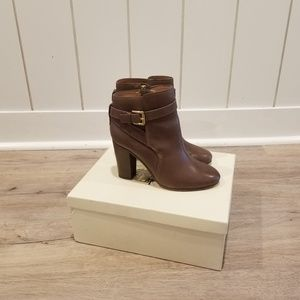 Coach brown leather boots/booties